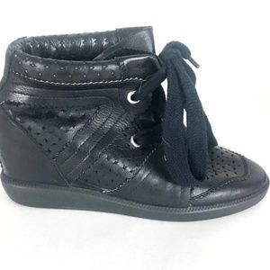 Isabel Marant   Baya Perforated Leather Sneakers